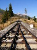 Funicular rails Stock Photos