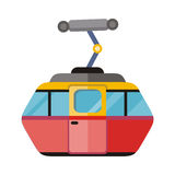 Funicular Railway Cable Car Isolated. Vector Stock Images