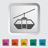 Funicular railway. Single icon on the button. Vector illustration Stock Image