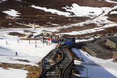 Funicular Railway Station Stock Photo