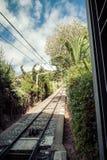 Funicular railway.Tibidabo. Barcelona. Royalty Free Stock Images