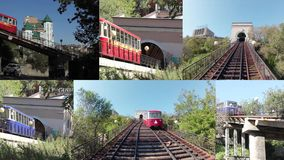 Funicular railway in Vladivostok, Russia. Since 1962. 183 m long stock footage