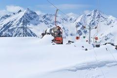 funicular Ryssland ` s norr Kaukasus Arkivbilder