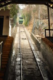 Funicular of Santiago de Chile. People travel on the Funicular of Cerro San Cristobal in Santiago de Chile, Chile Stock Photography