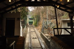Funicular of Santiago de Chile. People travel on the Funicular of Cerro San Cristobal in Santiago de Chile, Chile Stock Image