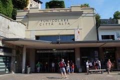 Funicular station in Bergamo Stock Photos
