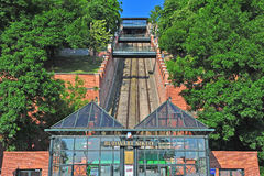 Funicular station in Budapest city Royalty Free Stock Photo