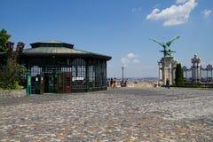 Funicular station Budavari Siklo Royalty Free Stock Image