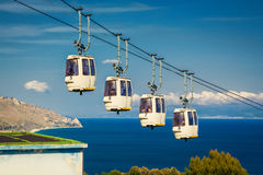 Funicular at Taormina, Sicily Royalty Free Stock Photos