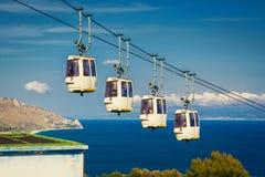 Funicular at Taormina, Sicily Royalty Free Stock Photos