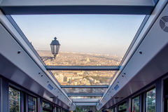 Funicular in Tbilisi. The view from the cable car in Tbilisi Royalty Free Stock Photography