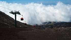 Funicular to the Etna Stock Images