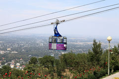 Funicular to Kok Tobe mount Stock Photo