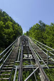 Funicular to the salt mine Hallstatt Royalty Free Stock Photography