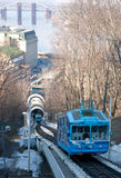The funicular from the top Stock Image