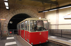Funicular train in Lyon, France Royalty Free Stock Photo