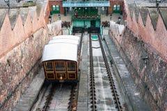 Funicular tram train, Budapest, Hungary Royalty Free Stock Photography