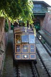 Funicular tram train going to Buda Castle Stock Photography