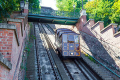 Funicular tram train going to Buda Castle royalty free stock photos
