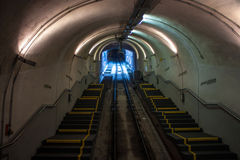 Funicular tunnel in Heidelberg Stock Photography
