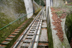 Funicular up to the observation hill above Karlovy Vary (Carlsbad), Czech Republic Stock Photo