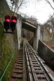 Funicular up to the observation hill above Karlovy Vary (Carlsbad), Czech Republic Stock Images