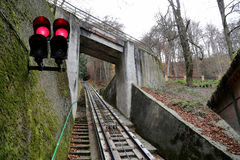 Funicular up to the observation hill above Karlovy Vary (Carlsbad), Czech Republic Stock Photography