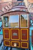 Funicular viejo en Budapest Hungría Fotografía de archivo libre de regalías