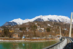 Funicular w Innsbruck Austria Obrazy Royalty Free