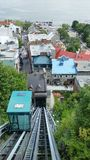funicular w Quebec mieście Obrazy Royalty Free