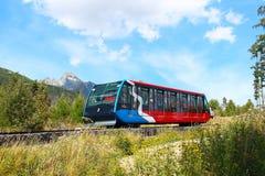 Funicular w Wysokim Tatras, Sistani Zdjęcie Royalty Free