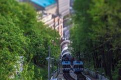 Funiculares en Kyiv Imagen de archivo