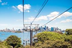 Funiculars above Taronga Zoo Royalty Free Stock Photography