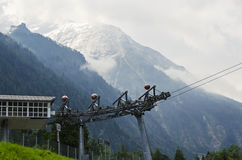 Funikulär, kitzsteinhorn Österreich stockbild