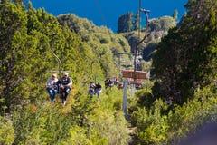 Funikulär zu Berg Cerros Campanario, Bariloche stockbilder