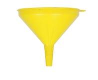 Funil amarelo fotografia de stock