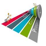 Funil 3d das vendas, gráficos Fotos de Stock Royalty Free