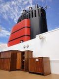 Funil de um navio de cruzeiros, de uma chaminé ou de uma chaminé Foto de Stock