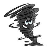 Funil do furacão dos desenhos animados com a nuvem da poeira Imagens de Stock Royalty Free