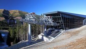 Funitel - modern cableway Stock Photo