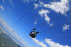 Funitel - modern ropeway Royalty Free Stock Photography