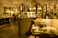 Funiture and home decor store. A store selling upscale furniture and home decors Royalty Free Stock Image