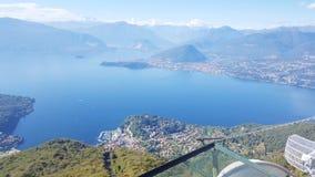 Funivia Laveno Italy. Lago funivia laveno italy lake porto lampedusa summer holiday best  cableway stock photography