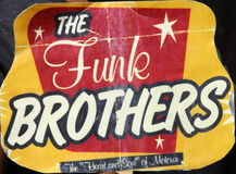 Funk Brothers fan. A Funk Brothers fan at Walk of Fame ceremony royalty free stock photo