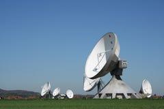 Funk station. Wireless station on a field stock photo