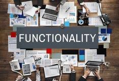 Funkcjonalności Cyfrowego systemu komputerowego Praktyczny pojęcie zdjęcia stock