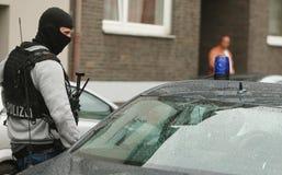 Funkcjonariuszów Policji DÃ ¼ sseldorf Niemcy Zdjęcia Stock
