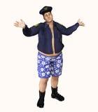 Funkcjonariusz Policji Łapiący Z spodniami Daleko royalty ilustracja