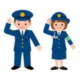 Funkcjonariusz policji dzieci royalty ilustracja