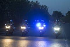 Funkcjonariusz policji na motocyklu Zdjęcia Stock